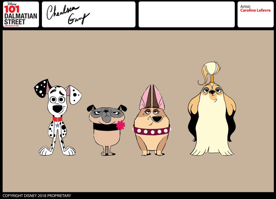 101 Dalmatian Street Characters